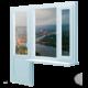 Балконный блок дверь и окно