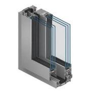 Остекление балкна алюминиевым профилем с двухкамерным стеклопакетом