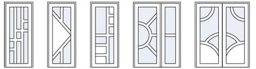 Металлопластиковые двери дизайн