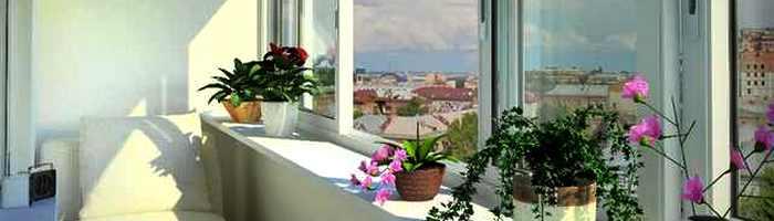 Остекление балкона теплыми алюминиевыми окнами Одесса Викнт