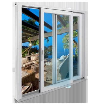 Раздвижные металлопластиковая дверь SWS