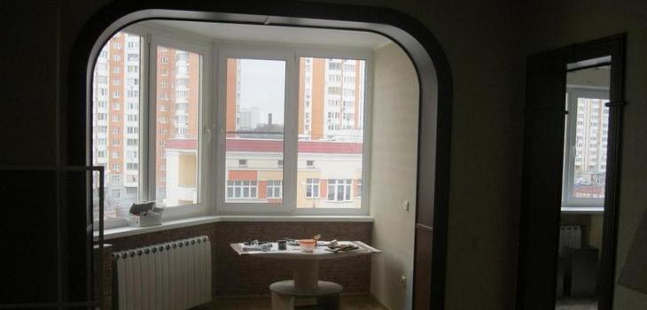 Внутренняя отделка балкона Гипсокартоном Виконт Одесса