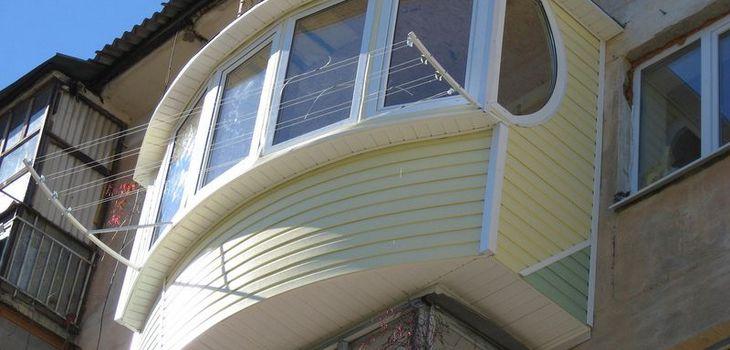 Отделка балкона сайдингом Виконт Одесса