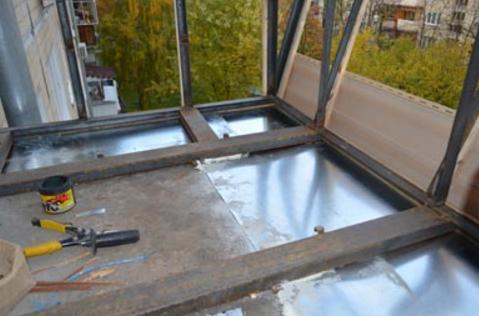 Вынос балкона по плите и по полу стройматериалы, ремонт и от.